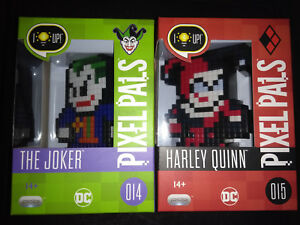 PIXEL-PALS-014-and-015-THE-JOKER-AND-HARLEY-QUINN-BRAND-NEW-UNOPENED
