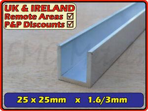 "Aluminium Channel║1"" x 1""║(C U section, gutter, profile, glazing,alloy)"