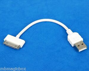 4-034-10cm-Quick-Charger-Fast-Charging-ONLY-USB-cable-WHITE-for-iPhone-4s-4-3GS