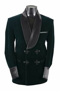 Men-Elegant-Luxury-Stylish-Designer-Green-Smoking-Jacket-Party-Wear-Blazers