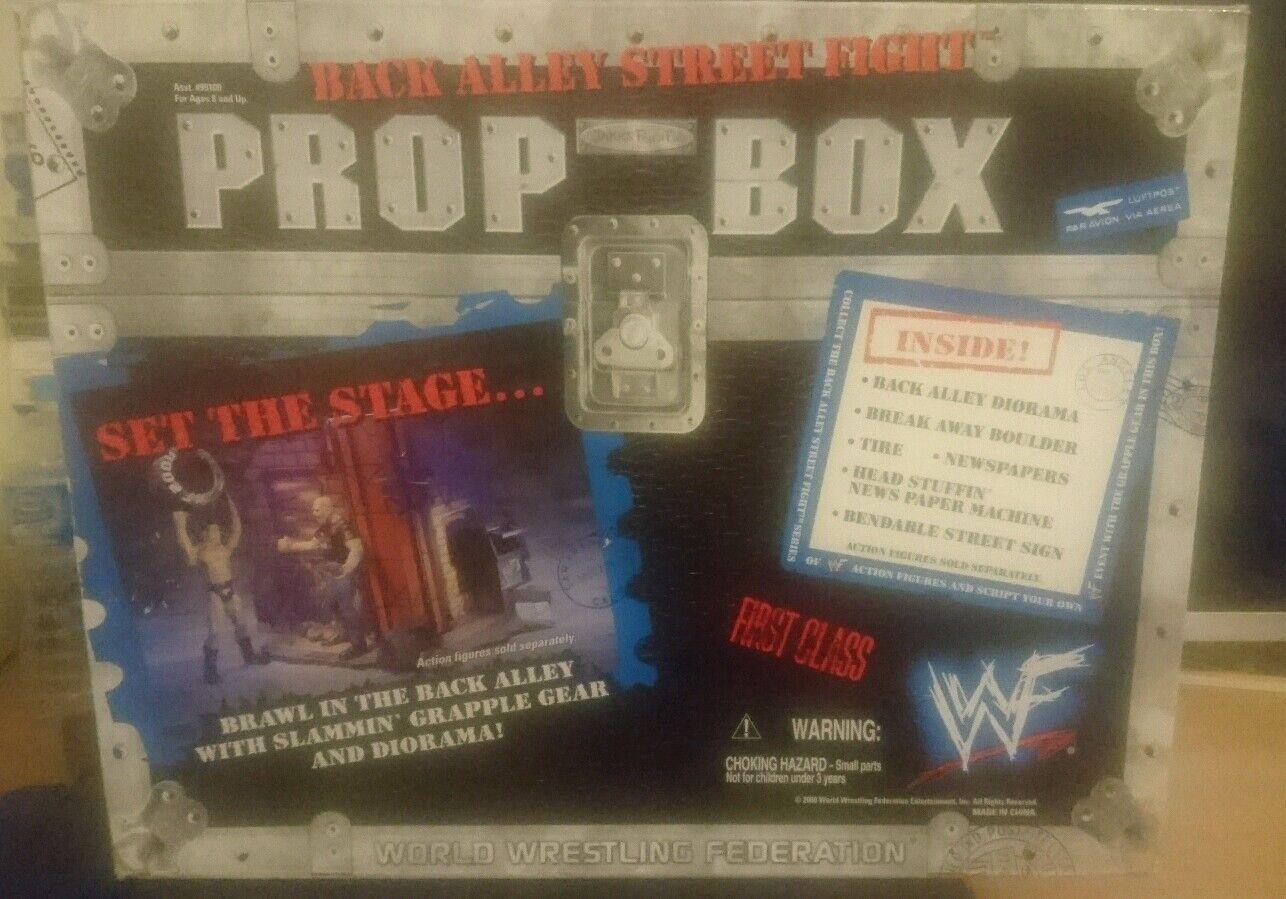 RARE WWE/WWF Jakks VICOLO Street Fight Prop BOX Figura Playset