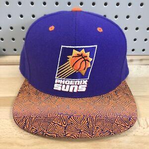 Phoenix-Suns-NBA-Basketball-Mitchell-amp-Ness-Purple-Snap-Back-HWC-Hat-EUC-Cap