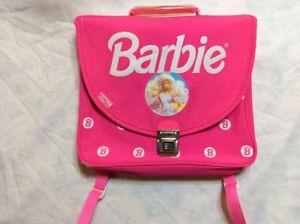 miglior servizio cf2c6 0a96e Dettagli su Barbie Zaino Scuola Anni 80 Vintage