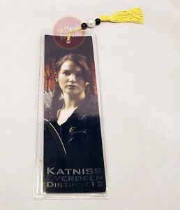 THE HUNGER GAMES BOOKMARK Katniss Everdeen District 12 NEW Jennifer Lawrence