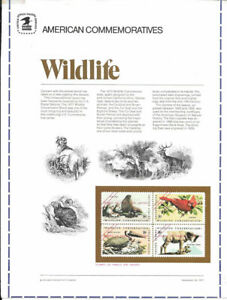 1-8c-Wildlife-Block-1464-1467-USPS-Commemorative-Stamp-Panel-Essay-Rare