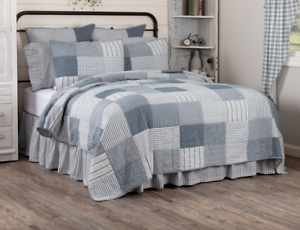 SAWYER-MILL-BLUE-QUILT-choose-size-amp-accessories-Farmhouse-Bedding-VHC-Brands