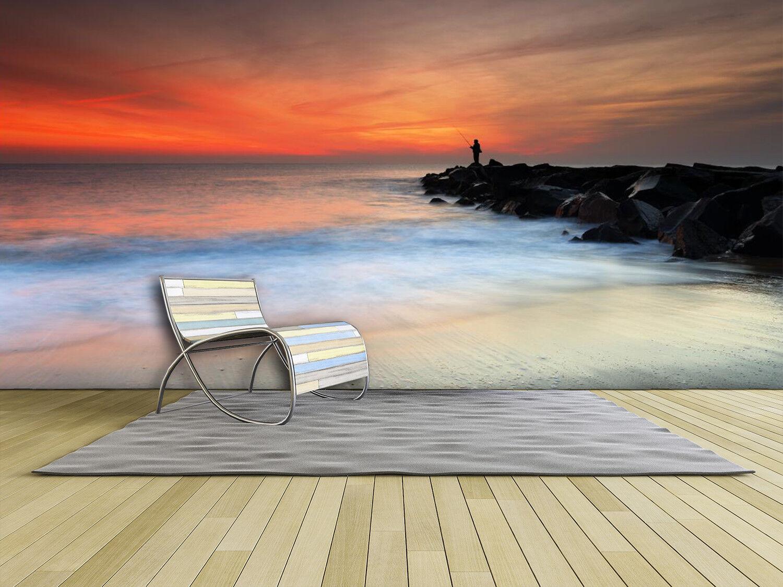 3D Sunset Waves 6 Wallpaper Murals Wall Print Wallpaper Mural AJ WALL AU Lemon