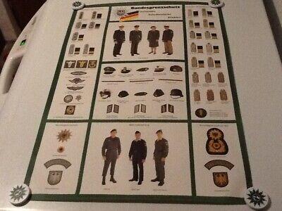 sd759 Bundesgrenzschutz BGS Schriftbogen golden auf grün Offizier