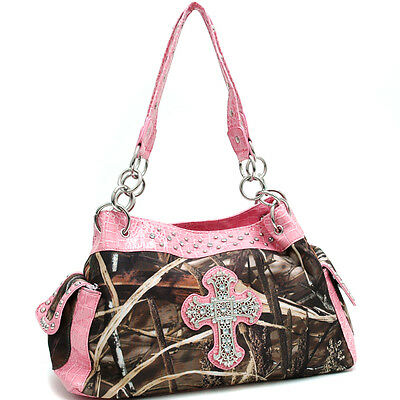 New Fashion Women Realtree Camouflage Croco Shoulder Crossbody Bag Handbag Purse
