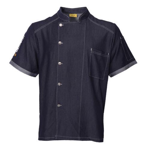 Professional Chef Coat Men/'s Short Sleeve Unisex Cool Fashion Chef Jacket