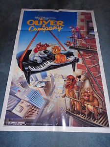 OLIVER-amp-COMPANY-1988-DISNEY-ANIMATION-LOT-OF-5-ONE-SHEET-POSTERS-MINT