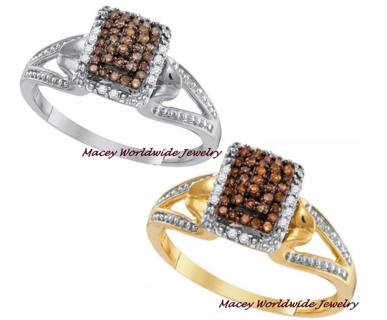 Brandy Diamond® Chocolate Brown 10K gold Absolutely Elegant Raised Ring