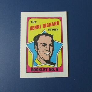 HENRI-RICHARD-1970-71-TOPPS-Booklet-6-Signed-by-MAURICE-RICHARD-Canadiens