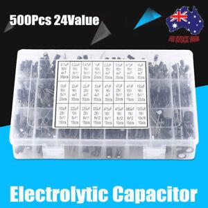 540Pc-24-Value-0-1uF-1000UF-Electrolytic-Capacitors-Assortment-Kit-Capacitor-Set