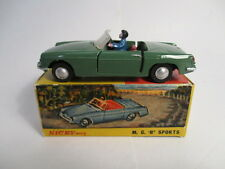 Nicky Toys 113 - MG MGB in solid green with driver - VGC, Boxed (Dinky copy)