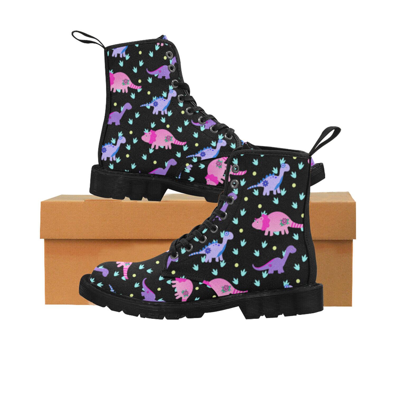 Dinosaur Ladies Lace Up Boots, Festival, Punk, Rock, Goth, Alternative 4-8.5