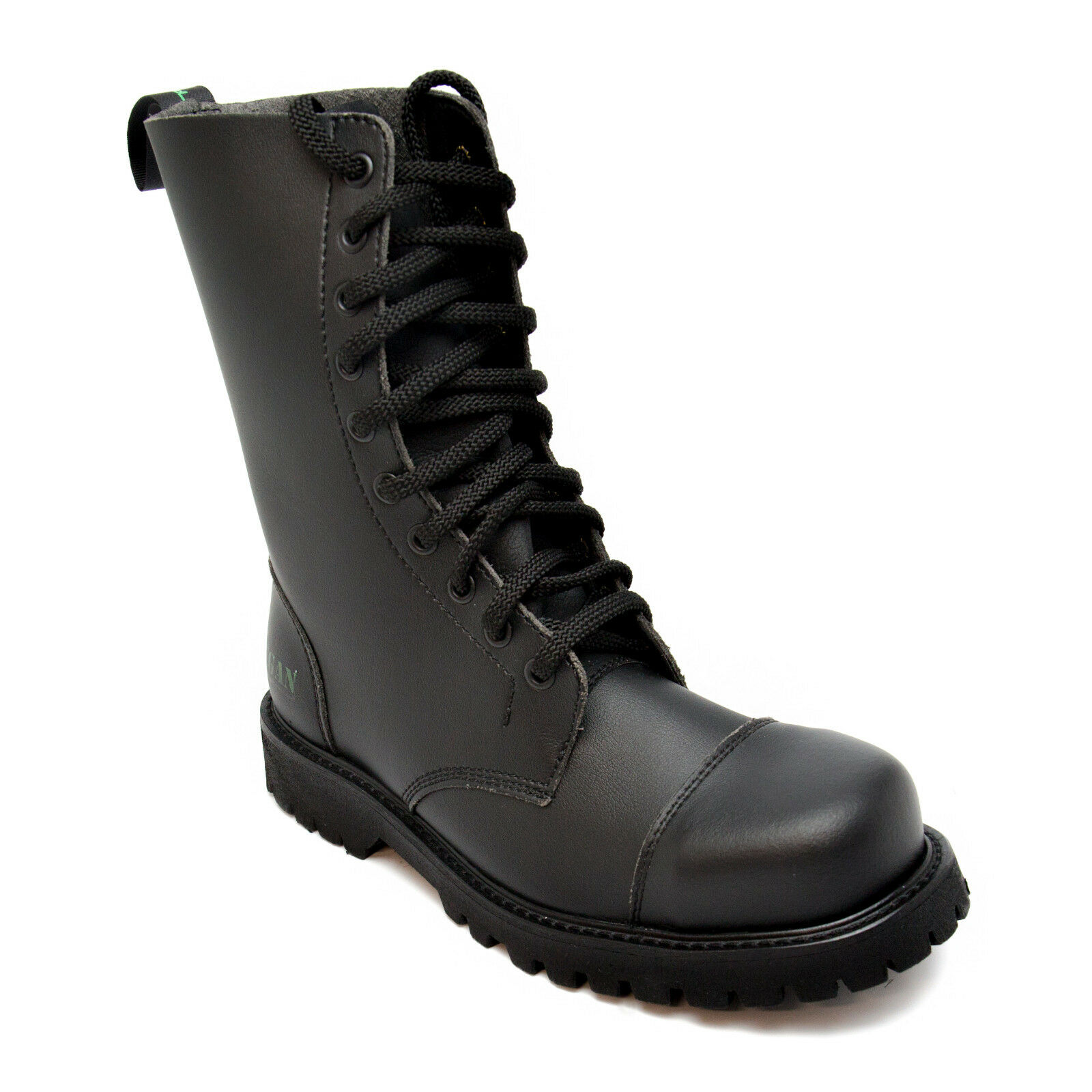 Acero Vegano Puntera Trabajo Combat bota militar negro durable resistente transpirable