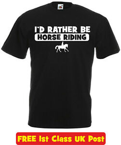 I-039-d-Rather-Be-HORSE-RIDING-t-shirt-kids-adults-novelty-slogan-birthday-xmas-gift