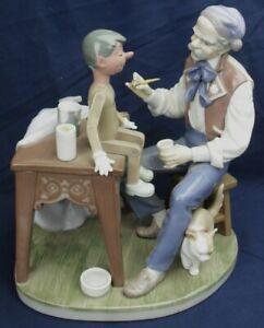 Lladro-PUPPET-PAINTER-Giuseppe-and-Pinocchio-figure-5296