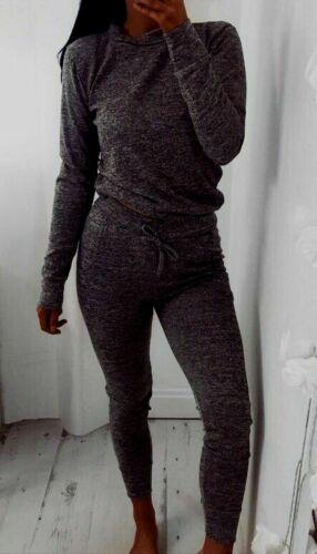 Femme Mesdames Plain Sweat Survêtement Lounge Wear Jogging Jogsuit Nouveau en 8-26
