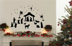36-piece-Large-Nativity-Set-Vinyl-Decal-Wall-Stickers-Christmas-Decor-Mural-Art