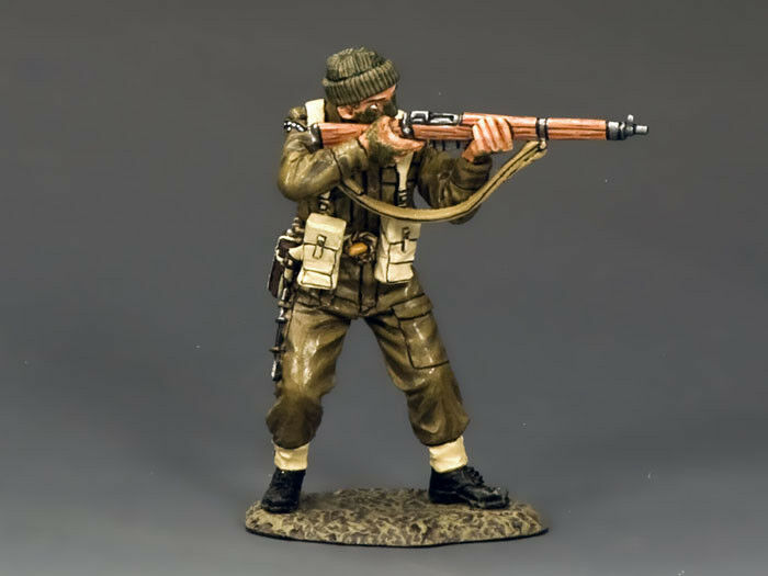 KING AND COUNTRY WW2 Commando Standing Firing Rifle D Day DD193