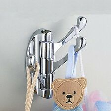 1PC Rotation Alloy Wall Mounted Bathroom Cloth Towel Hook & Hanger Home Supplies