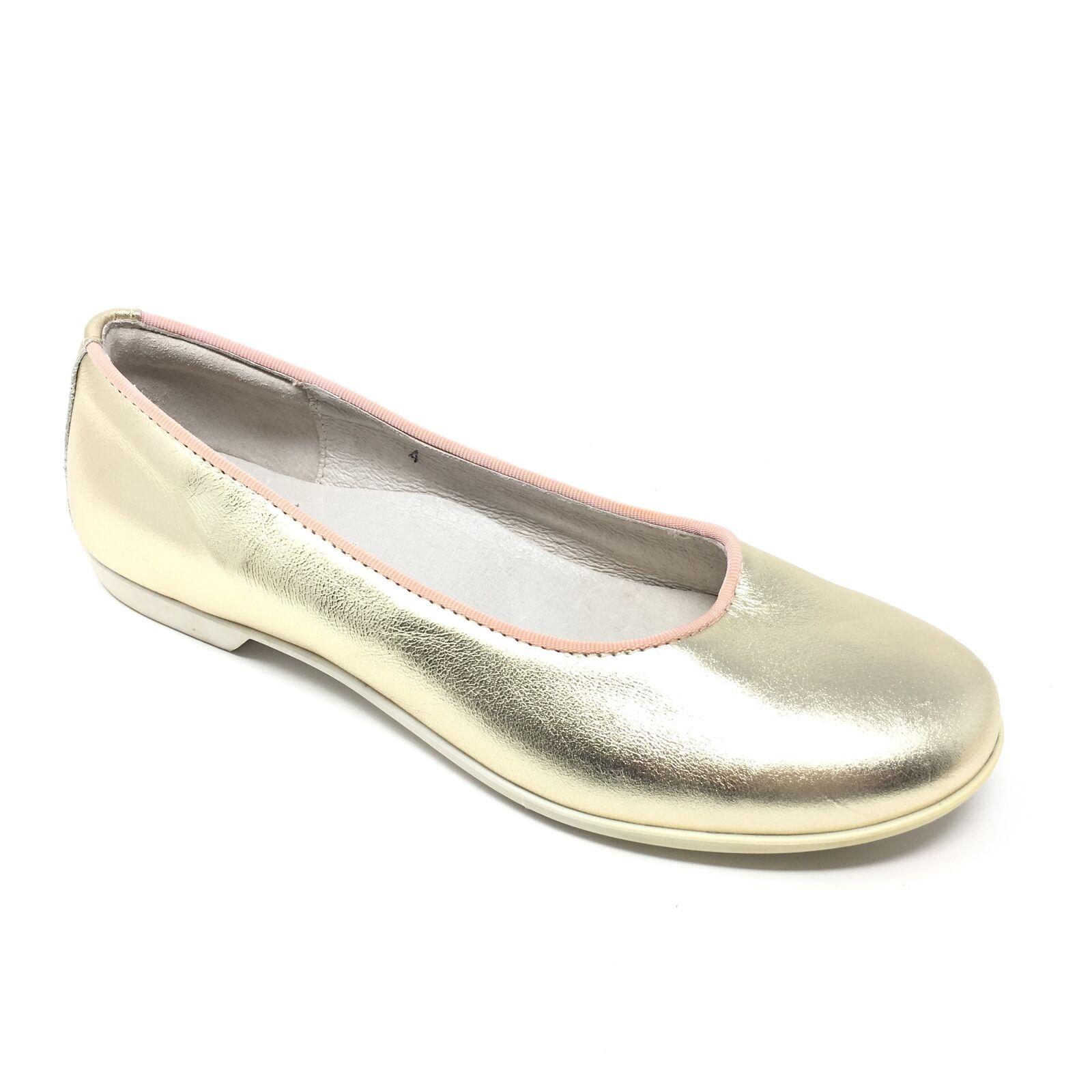 Women's Brooks Bredhers Fleece Ballet Flats shoes Size 35 EU 4.5-5 US gold AB1