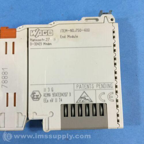 Wago 750-600 Bus End Terminal Module 24 VDC USIP