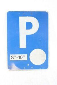 Old Shield Aluminium Parking Spot Shield Blue Parkzeiten 8 To 16 Clock