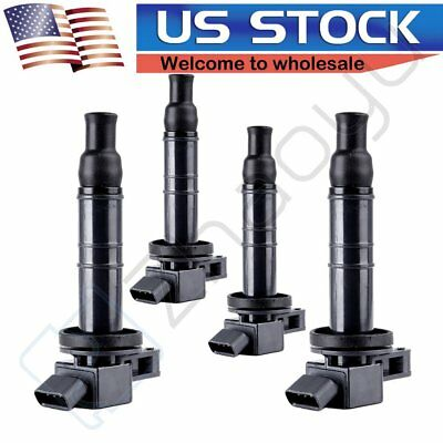 Set Of 4 Ignition Coil Pack for Toyota Scion Lexus 1.8L 2.0L 2.4L L4 C1330 UF333