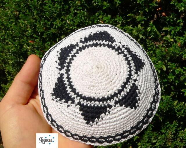 Kippah Yarmulke Crochet Star Of David Kippa Yamaka Knitted Jewish