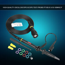 P7100 100mhz 300mhz Oscilloscope Scope Test Probe 35ns Bnc Clip Cable Leads Kit