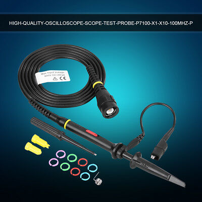 P7100 100MHz-300MHz Oscilloscope Scope Test Probe 3.5NS BNC Clip Cable Leads Kit