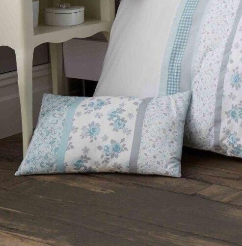 Curtains Duckegg /& Grey Patchwork Floral Bedding Range Bedspread Duvet Cover