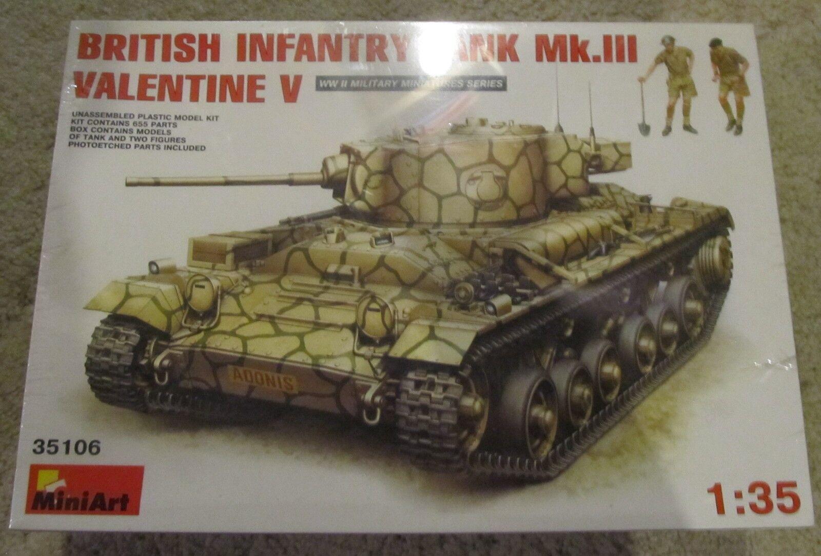 MiniArt- British Infantry Tank Mk. III Valentine V- 1 35