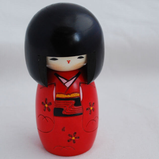 Japanese Kokeshi Doll - Authentic - Handmade in Japan - Innocent Girl