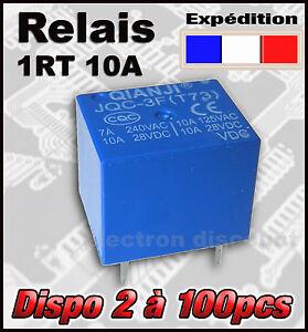998-relais-1-RT-10A-au-choix-bobine-de-5-12v-ou-24V-de-2-a-100pcs-12v-relay