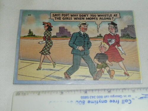 Ten Reproduction WHY DON'T YOU WHISTLE WHEN MOM'S COMIC PostcardsI Think?
