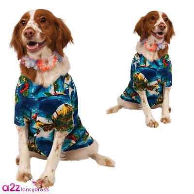 HAWAIIAN DOG PET LUAU HOLIDAY GIFT SUMMER T-SHIRT NOVELTY COSTUME OUTFIT