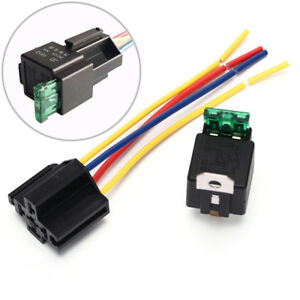 Waterproof-Prewired-5Pin-Car-Relay-Harness-Holders-40A-12V-With-Relay-Socket-S