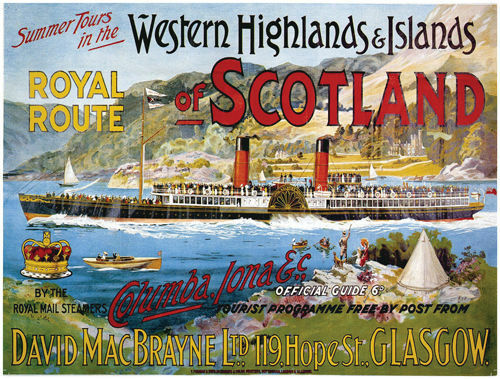 Scotland, Loch, Paddle Steamer Boat/Ship, Vintage, Large Metal/Tin Sign, Picture
