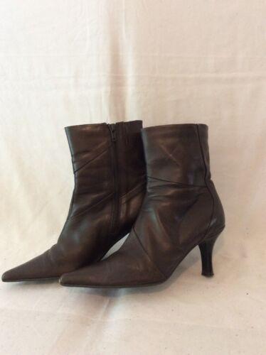 cuero Botas marrón 5 5 tobillo de Clarks talla 44Rr5qw