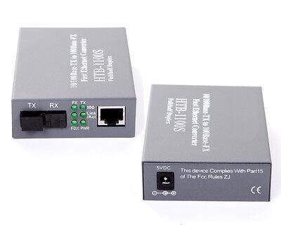 10//100Mbps Gigabit Ethernet to Fiber Optic Media Converter,25KM,SC 1pair(2pcs