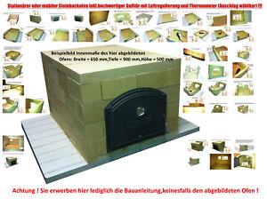 Bauanleitung Holzbackofen Steinbackofen Pizzaofen Schamotte Schamott