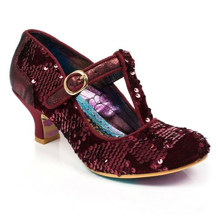 Irregular Choice Building Bridges Kajanka Bordo Sequin