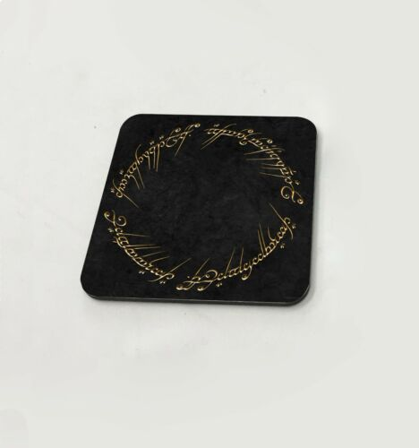 Sauron One Ring To Rule Them All Mordor Cup Coasters Dining Table Cork Board