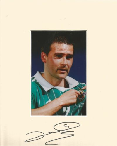 10 x 8 inch mount personally signed by David Healy Northern Ireland on 04.02.15.