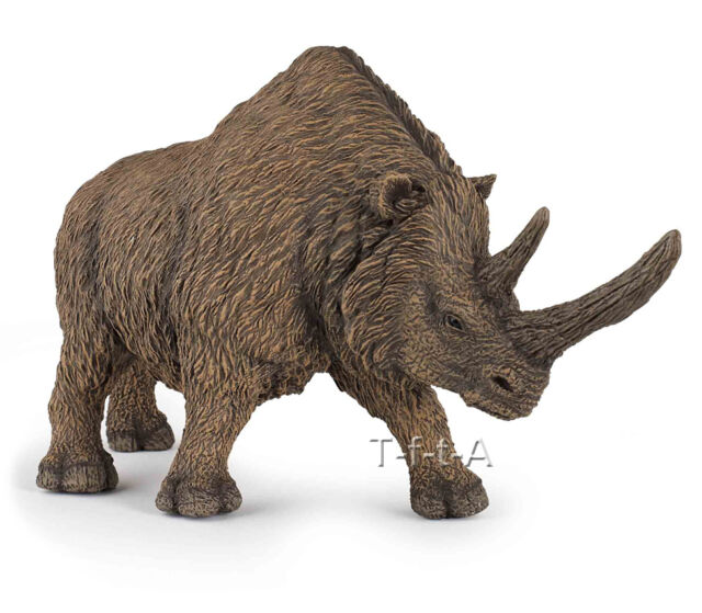 FREE SHIPPING | Papo 55031 Woolly Rhinoceros Prehistoric Model - New in Package