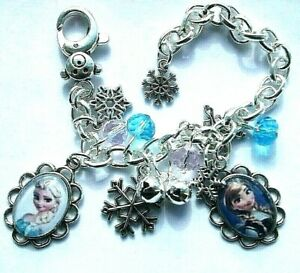 Frozen Elsa And Anna Charm Bracelet Adjustable 2 To 4 Year Gift Box Birthday Toys & Hobbies